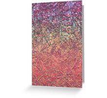 Sparkley Grunge Relief Background Greeting Card