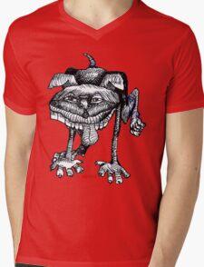 Peeing Puppy Mens V-Neck T-Shirt