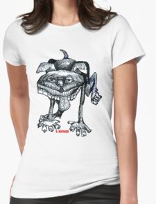 Peeing Puppy Womens Fitted T-Shirt