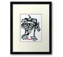 Peeing Puppy Framed Print
