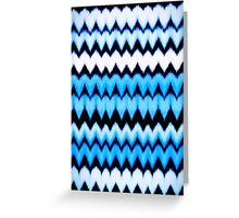 Chevron  blue hearts Greeting Card