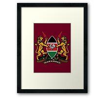 Kenyan Court of Arms Framed Print