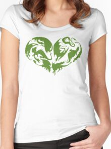 I Heart Dragons Women's Fitted Scoop T-Shirt