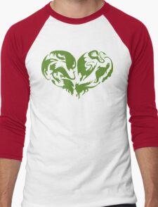 I Heart Dragons Men's Baseball ¾ T-Shirt