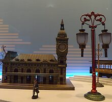 Model Building, Model Lamp, Model Train, Jerni Collection, New York Historical Society, New York City by lenspiro