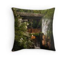 Little Chinese bridge Throw Pillow
