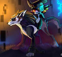 Twilight Princess - Wolf link and Midna by Affanita