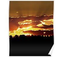 Burning sunset Poster