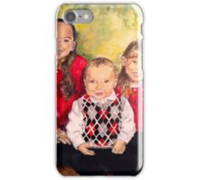 Christmas Siblings iPhone Case/Skin