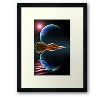 Ripples in Time and Space Framed Print