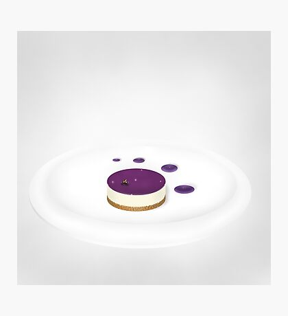 Blackcurrant cheesecake  Photographic Print
