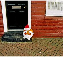 Whimsical Santa Head by Mark Ross