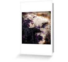 Bertrandite with Remnant Fluorite on Muscovite Greeting Card