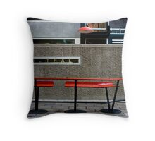 The Red Seat Throw Pillow