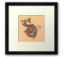 Celtic Fox Letter D Framed Print