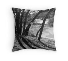 trees and shadow Throw Pillow