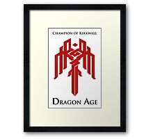 Champion of Kirkwall Dragon Age 2 Framed Print