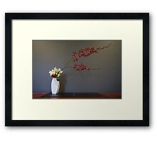 Christmas Themed Ikebana Flower Arrangement Photo Framed Print