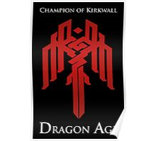 Champion of Kirkwall Dragon Age 2 white text Poster