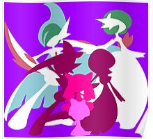 Ralts Kirlia Gardevoir Gallade Evolution Poster