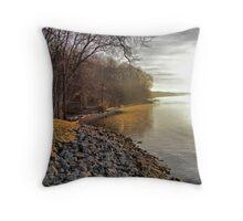 riverside mist Throw Pillow