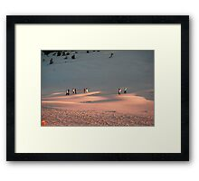 Walking The Blow Framed Print