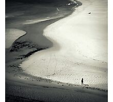 Footprints In The Sand Photographic Print