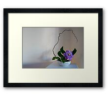 Springtime Clematis Ikebana Flower Arrangement Photo Framed Print
