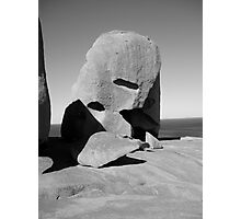 rock art 3 b&w Photographic Print