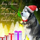 Merry Christmas wishes-husky siberian/gift products by haya1812