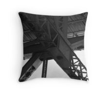 steel structure Throw Pillow