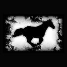 Western-look Galloping Horse Silhouette by NaturePrints