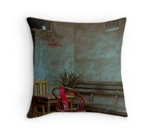 Red Chair Throw Pillow