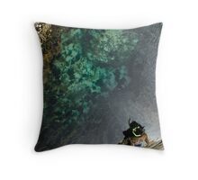 dry land snorkelling Throw Pillow