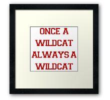 Once a Wildcat Always a Wildcat Framed Print