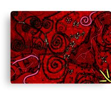 brick red crazy Canvas Print
