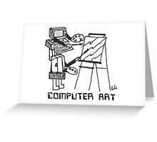 Computer Art Greeting Card