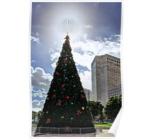 Miami Christmas Tree Poster