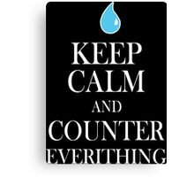 Counter Everything Funny Geek Nerd Canvas Print