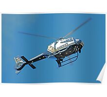 Sac County Sheriff's chopper Poster