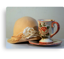 Cup & Hat Canvas Print