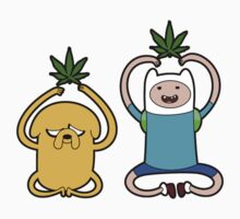 "Finn and Jake in ""Medicated Meditation"" by HighlyAnimated"