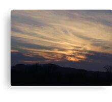 A December Sunset Canvas Print