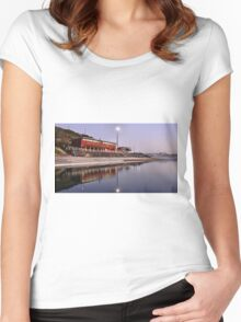 Merewether Baths NSW Australia Women's Fitted Scoop T-Shirt