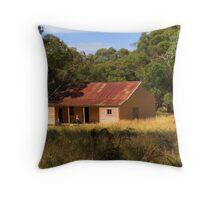 High Country Hut Throw Pillow