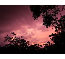 Late Afternoon sky.... Photographic Print