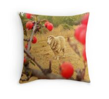 spike with red berries Throw Pillow