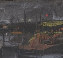 night scene in Tangier by sophia burns