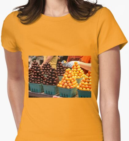 How to Sell Cherries! Womens Fitted T-Shirt