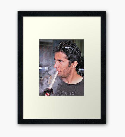 'Up in smoke' Framed Print